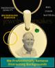 May Birthstone Gold Photo Round Pendant