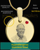 July Birthstone Gold Photo Round Pendant