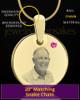 October Birthstone Gold Photo Round Pendant