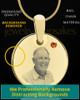 November Birthstone Gold Photo Round Pendant