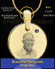 December Birthstone Gold Photo Round Pendant