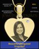 April Gold Heart Photo Engraved Pendant