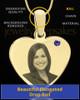 September Gold Heart Photo Engraved Pendant