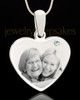 April Stainless Steel Memories Heart Photo Pendant