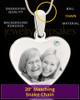 April Stainless Steel Memories Heart Photo Pendant