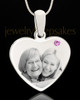 June Stainless Steel Memories Heart Photo Pendant