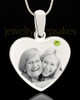 August Stainless Steel Memories Heart Photo Pendant
