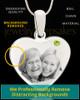 August Stainless Steel Memories Heart Photo Pendant
