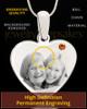 November Stainless Steel Memories Heart Photo Pendant