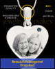 December Stainless Steel Memories Heart Photo Pendant