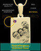 February Rectangle Gold Plated Photo Engraved Pendant