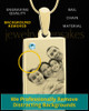 March Rectangle Gold Plated Photo Engraved Pendant