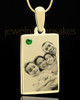 May Rectangle Gold Plated Photo Engraved Pendant
