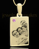 June Rectangle Gold Plated Photo Engraved Pendant