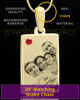 July Rectangle Gold Plated Photo Engraved Pendant