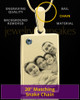 December Rectangle Gold Plated Photo Engraved Pendant
