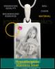 Photo Engraved October Birthstone Rectangle Pendant