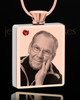 January Rose Gold Plated Photo Engraved Rectangle Cremation Pendant