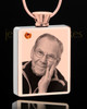 November Rose Gold Plated Photo Engraved Rectangle Cremation Pendant
