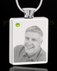 August Stainless Steel Photo Engraved Rectangle Cremation Pendant