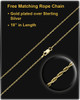 Hook Cremation Jewelry in 14K Yellow Gold