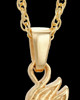 Wild Horse 14K Yellow Gold Cremation Pendant