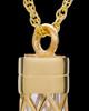 14K Adoration Cylinder Cremation Pendant
