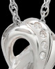 Infinity with Mother of Pearl Swarovski Stones Ash Pendant in White Gold