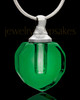 Soft Green Glass Teardrop Cremation Pendant