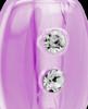 Violet Mystic Glass Teardrop Urn Pendant