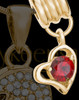 Add a January Gold Birthstone Heart