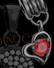 Add a Black January Birthstone Heart