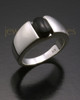 Ladies White Gold Beguiling Black Onyx Ash Ring