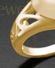 Ladies 14K Gold Filigree Heart Cremation Ring