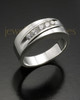 Men's White Gold Fondness Cremation Ring