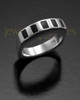 Men's White Gold Efficient Cremation Ring