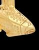 Circling Fish 14K Yellow Gold Memorial Pendant