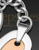 Candid Heart Stainless Steel Rose Gold Cremation Keychain