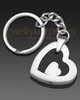 Stainless Steel Candid Heart Keychain
