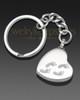My Journey Heart Ash Keychain
