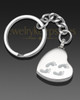 My Journey Heart Ash Keychain