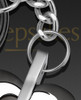 Black and Stainless Gracious Heart Memorial Keychain
