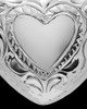 Cremation Remains Jewelry Etched Double Sterling Silver Heart