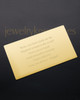 Gold Affection Wallet Card