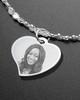 Luxury Curved Heart Photo Engraved Bracelet