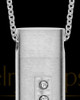 Men's Endure Stainless Cylinder Cremation Pendant