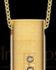 Gold Men's Endure Cylinder Cremation Pendant