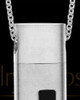Men's Steel Spirited Cylinder Urn Pendant