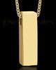 Gold Men's Classy Cylinder Urn Jewelry
