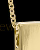 Men's Natural Rectangle Gold Plated Cremation Pendant